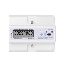 цена на RS485 220/380V 5-100A 3 Phase 4 Wire DIN Rail Energy Meter Digital Power Factor  with Voltage Current Frequency Display