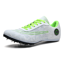 Men Women Sport Running Shoes Lightweight Women Racing Match Spike Shoes Outdoor Black Men Track Field Sneakers Trainer