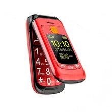 Флип двойной экран Две сим-карты SOS ключ быстрый набор сенсорный почерк русская клавиатура FM мобильный телефон для пожилых людей