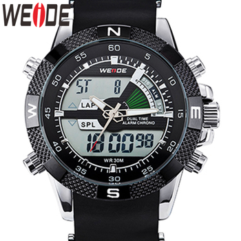 WEIDE Watch Men Luxury Brand Fashion Sports Watches Quartz Analog LED Clock Male Military Wrist Watch Relogio Masculino Watch top luxury brand sanda men sport watches men s quartz led analog clock man military waterproof wrist watch relogio masculino new