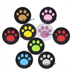 Image 3 - IVYUEEN 4 sztuk silikonowe nakładki na przyciski pokrywa dla przełącznik do nintendo NS Lite Joy Con gałka analogowa czapki skóry dla JoyCon uchwyt joysticka