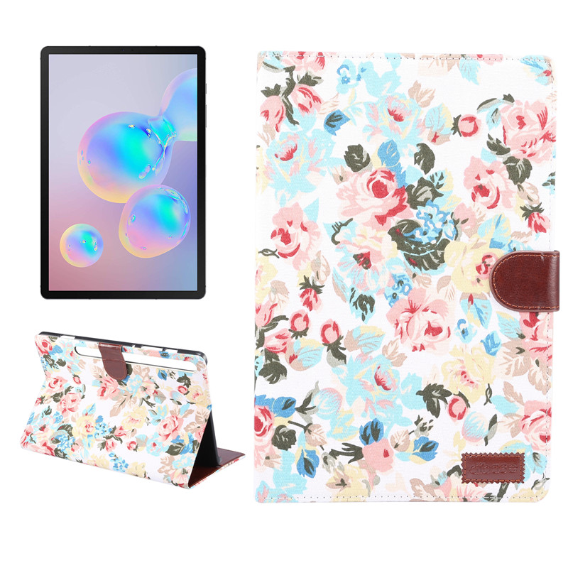 For Galaxy Tab S6 Case Magnetic Flower Painted Case Cover For Samsung Galaxy Tab S6 2019 SM-T860 SM-T865 Funda Capa
