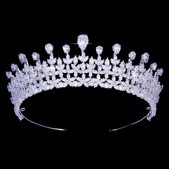 Crown HADIYANA New Fashion Style Tender Tree Bud Design Women Wedding Birdal Hair Cilp Or Party Shine Jewelry BC4966 Corona