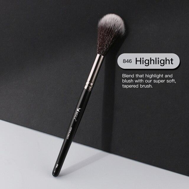 BEILI 1 piece Black Professional Synthetic Makeup brushes Highlighter Blending Blush Eyebrow Eyeliner make up brushes 3