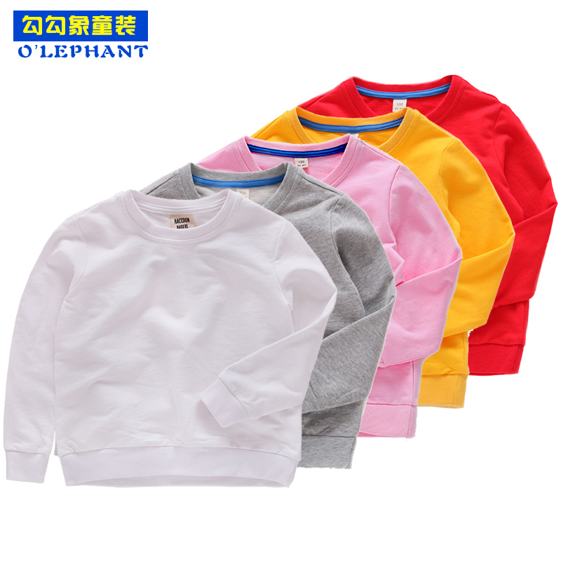 Boys Sweaters Baby-Girl Pullover Autumn Cotton Spring Solid O-Neck Long-Sleeve Simple