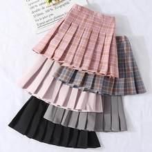 Faldas de otoño Vintage a cuadros plisado para niñas, ropa escolar para adolescentes, Primavera, 3, 4, 6, 8, 10, 12 y 14 años