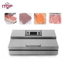 ITOP شبه التجارية فراغ جهاز غلق أكياس الطعام المنزل تخزين المواد الغذائية آلة التعبئة مع فراغ أكياس تخزين المواد الغذائية 110 فولت