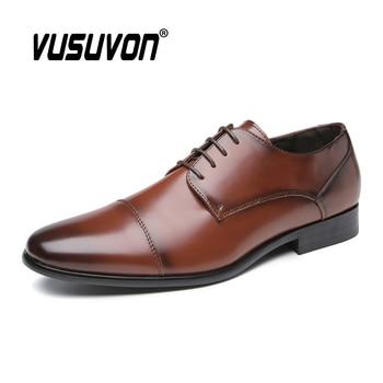 Classic Dress Shoes Men Leather Formal Travel Casual Business Shoes Fashion Black Brown Suits Mens Gents Shoes Big Size 39-45
