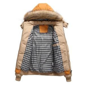 Image 4 - FALIZAฤดูหนาวใหม่แจ็คเก็ตผู้ชายหนาเสื้อคลุมParkaผู้ชายOutwear Coat Casual PatchworkเบาะMens PLUS 7XL MY20