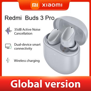 Nowa wersja globalna Xiaomi Redmi Buds 3 Pro TWS słuchawki Bluetooth słuchawki bezprzewodowe 35dB ANC podwójne urządzenie Redmi Airdots 3 Pro tanie i dobre opinie Zaczepiane na uchu Dynamiczny CN (pochodzenie) wireless Zwykłe słuchawki do telefonu komórkowego Sport NONE instrukcja obsługi
