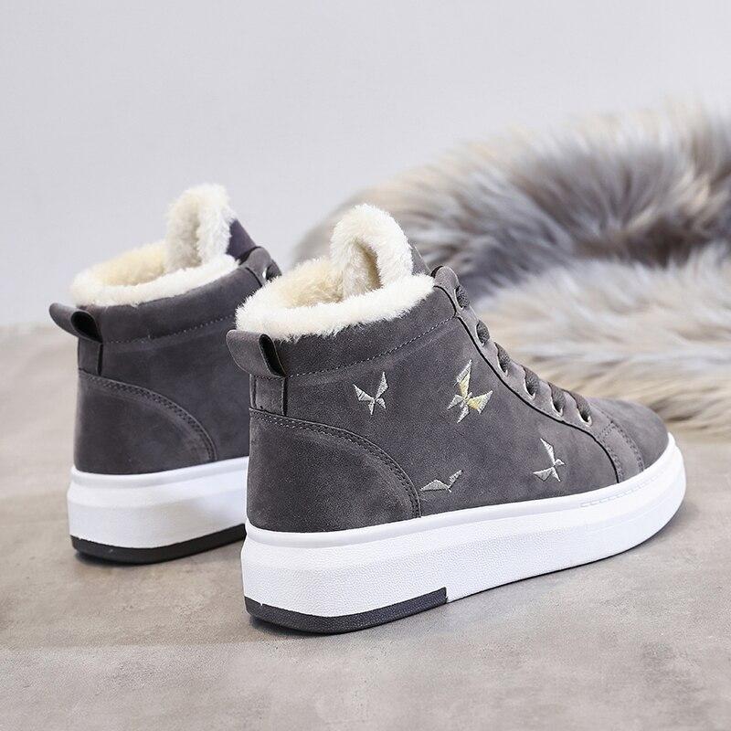 Cotton Shoes Female New Women's Boots Winter Plus Velvet Cotton Shoes Thick Soled Warm Snow Women's Boots Women's running shoes 40