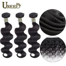 Cheveux Uneed vague de corps cheveux paquets 8 à 26 pouces péruvien 100% Extension de cheveux humains Remy cheveux armure pour femme noire longue taille