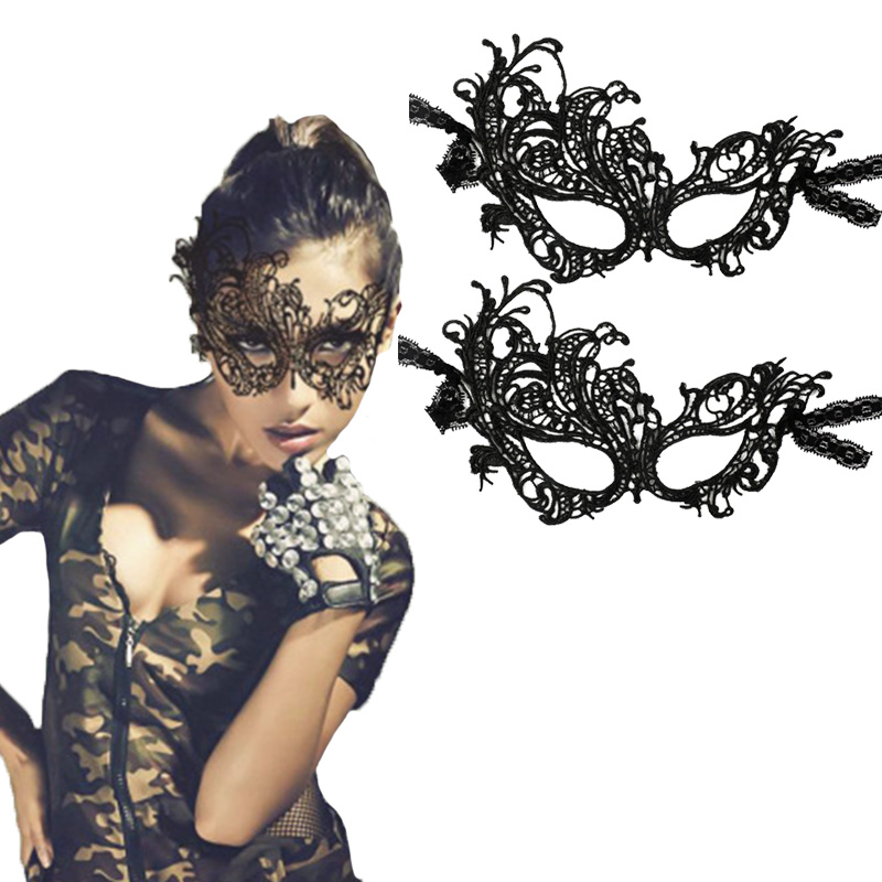 Women Open <font><b>Sexy</b></font> Lace Eye <font><b>Mask</b></font> Party Props Black <font><b>Mask</b></font> For Masquerade Bachelorette Party <font><b>Halloween</b></font> Carnival <font><b>Mask</b></font> image