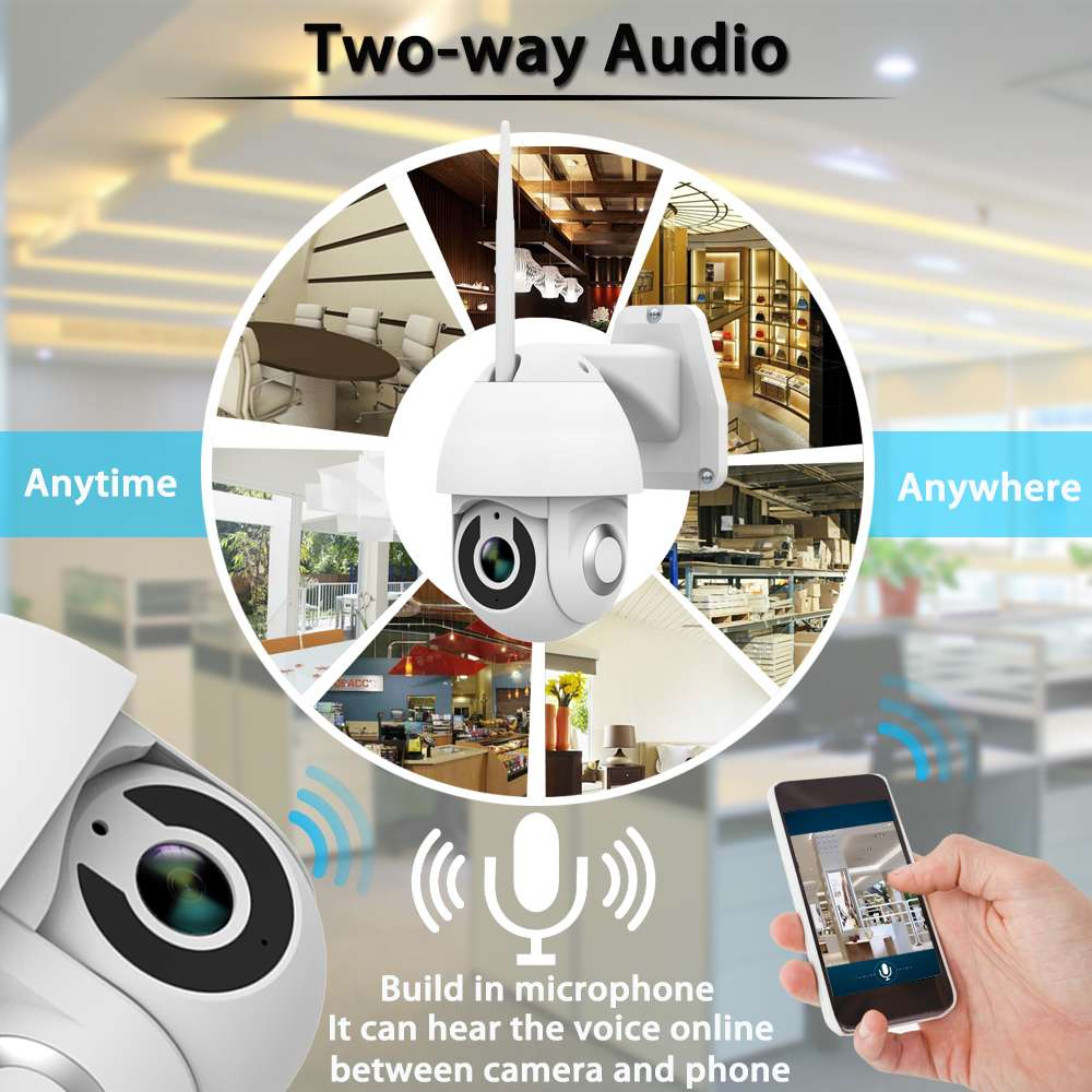 Image 5 - 2019 New Xiaovv OU 9113 M4 HD 1080P 2MP IP Camera Indoor Outdoor Security Smart Camera WIF PTZ  Infrared Night Version-in Surveillance Cameras from Security & Protection