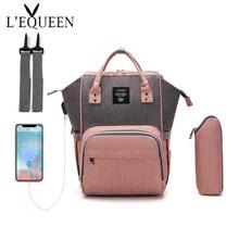 Travel Backpack Diaper-Bag Maternity-Nappy-Bag Lequeen Nursing-Bag Baby-Care Large-Capacity