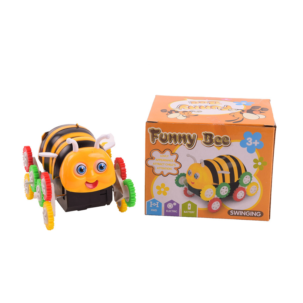 Electric Toy Car Small Bee Dump Truck Automatic Flipping CHILDREN'S Electric Car Stall Toy Hot Sales