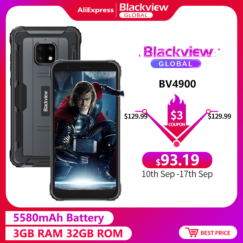 Blackview BV4900 5580mah 3GB 32GB Face Recognition 8mp New Smartphone Rugged Android 10.0