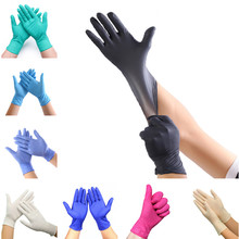 100 PCS 9 Color Disposable Gloves Latex Dishwashing/Kitchen/Medical /Work/Rubber/Garden Gloves Universal For Left and Right Hand