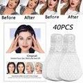 Для выведения токсинов, 40 шт маска для лица и шеи с лифтинг наклейки Невидимый V-Форма утягивающий Уход За Кожей Лица Подъемные Инструменты л...