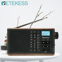 RETEKESS TR613 נייד רטרו רדיו FM/AM/SW 3 להקות קשישים תמיכה TF כרטיס USB טעינה סטריאו אודיו קלט 3.5mm אוזניות שקע