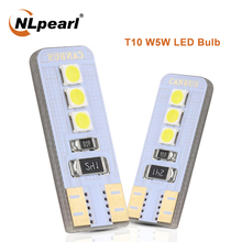 NLpearl Signal Lamp T10 W5W 194 168 LED Bulb 3030 6SMD  W5W Led Canbus Car Wedge Clearance Lamp Interior Parking Light 12V White 2pcs t10 w5w led bulb 3030 smd 168 194 car accessories clearance lights reading lamp 12v auto white amber crystal blue red green