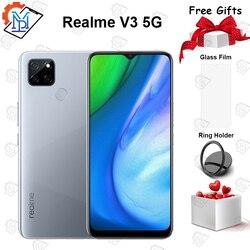 Новый оригинальный realme v3 5G мобильный телефон 6,5 дюймов 6G RAM 64G ROM MediaTek 720 Восьмиядерный Android 10 5000mAh аккумулятор 18W смартфон