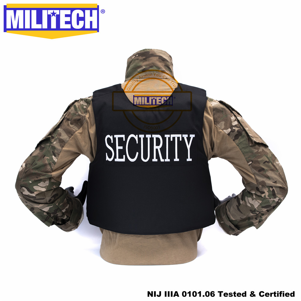 Militech NIJ IIIA 3A Security Overt Style Duty Vest Twaron Aramid Bulletproof Ballistic Bullet Proof Vest Body Armor Vest