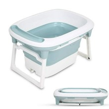 Folding Plastic Infant Baby Tubs Baby Care Newborn Safety Security Three-dimensional Bathtubs Bath & Shower Products HWC