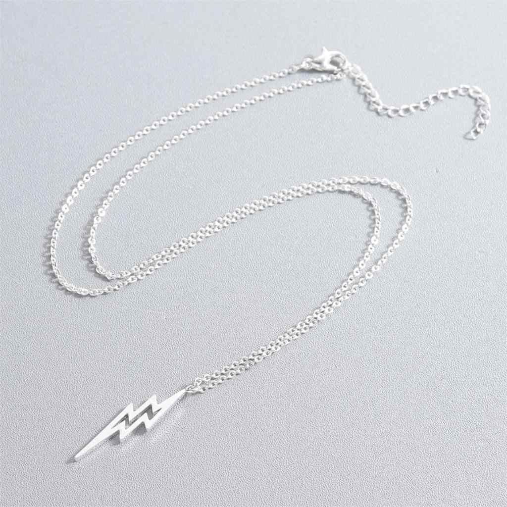 Kinitial панк ожерелье молния подарок для лучших друзей полые молнии болт подвески модная цепочка для пар ожерелье ювелирные изделия