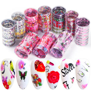 Transfer Foils Stickers Nails Decal Flowers Nail-Art-Decoration Letter Manicure-Bexkh82