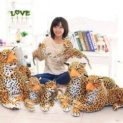 Modelo de muñeca de felpa de leopardo niños Flor de leopardo muñeca vacaciones actividad conjunto decoración regalo de cumpleaños