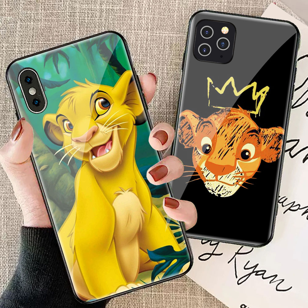 <font><b>Lion</b></font> <font><b>King</b></font> hard glass <font><b>case</b></font> for <font><b>iphone</b></font> xr x xs max 8 plus 7 7plus 8plus <font><b>6</b></font> 6s 11 pro max coque iphone7 cartoon shockproof cover image