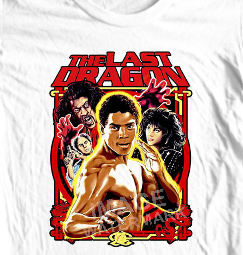 The Last Dragon T Shirt Retro 1980S Movie 100 Cotton Graphic Tee Karate image
