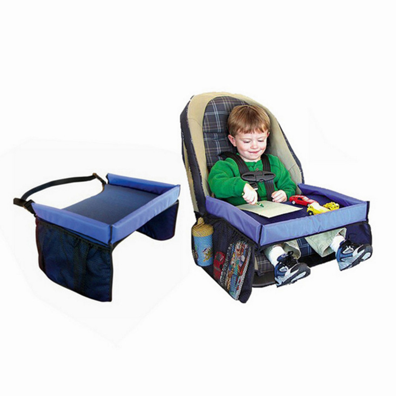 Baby Car Seat Tray Stroller Kids Toy Food Water Holder Desk Children Portable Table For Car New Child Play Table Storage 40*33cm
