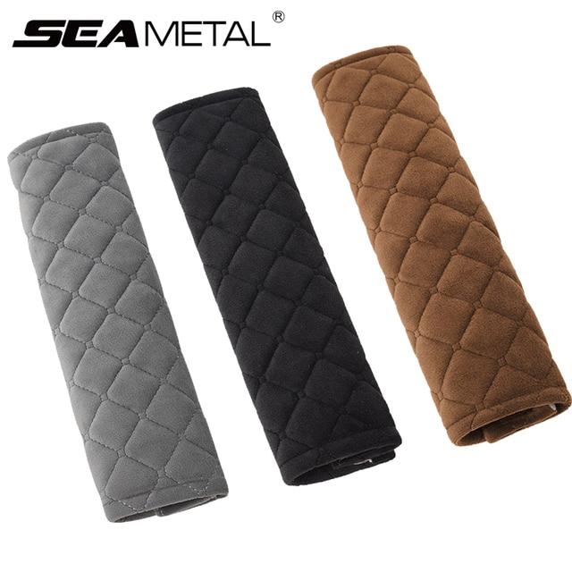 Cinto de segurança do carro ombros almofadas cobre bens almofada quente curto pelúcia proteção ombro acessórios interiores automóvel 4 temporada