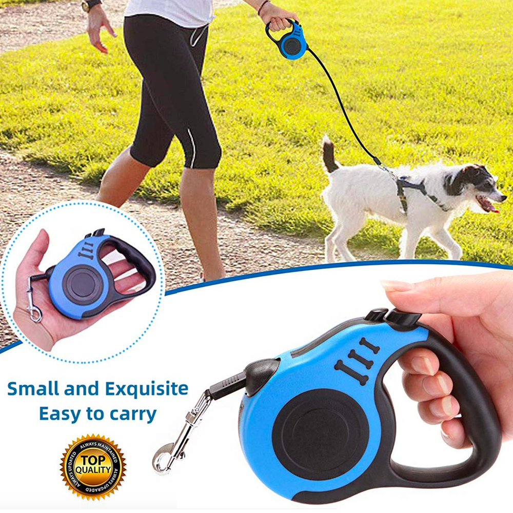 Durable Dog Leash Automatic Retractable Nylon Dog Lead Extending Puppy Walking Running Leads For Small Medium Dogs Pet Supplies|Leashes| |  - title=