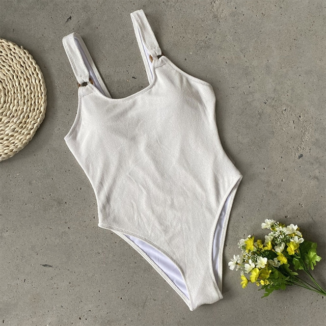 2020 New Knitted One Piece Swimsuit Female