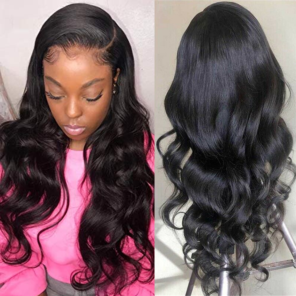 Brazilian Body Wave Lace Wig Pre Plucked Lace Front Wig Remy Hair Wig 150% 13x4 Lace Frontal Human Hair Wig For Sapphire Hair