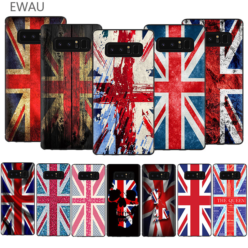 EWAU england british english uk <font><b>flag</b></font> Soft TPU Phone Cover Case For <font><b>Samsung</b></font> Galaxy A3 A5 A6 7 8 9 2018 <font><b>A10S</b></font> 20S 30S 40S 50S 60 70 image