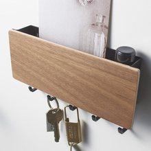 Настенный крючок для дома, прихожей, винтажная вешалка для хранения ключей, деревянная вешалка, домашняя декоративная комната, маленькая сп...