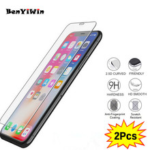 2PCS Screen Protector Tempered Glass For Apple X 8 7 6 6 S 6s Plus 5 5S 5Se 5 se XR XS MAX Protective glass For Iphone Film Case