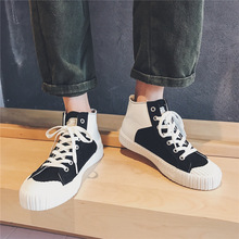 2019 Autumn New Mens Sports Shoes Youth High Casual Canvas