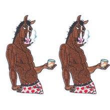 5 шт индивидуальная одежда в стиле панк с аппликацией виде лошади