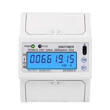Single Phase 5 (80) One 230V AC RS485 Modbus Rtu Energy Meter Electrical Consumption Luminous Monitoring Din Rail