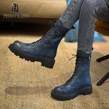 2020 outono inverno all-match camada de couro preto bonito martin botas nova fêmea de couro genuíno rendas-up moda botas curtas