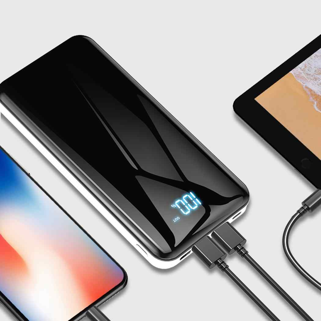 30000 MAh Powerbank Portable Baterai Eksternal USB Output Digital Tampilan Cepat Charge Power Bank untuk Xiaomi Mi iPhone X Note 8