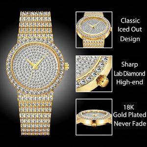 Image 2 - MISSFOX брендовые уникальные часы для мужчин 7 мм Ультра тонкие 30 м водостойкие ледяные круглые дорогие 34 мм тонкие наручные мужские часы 2562