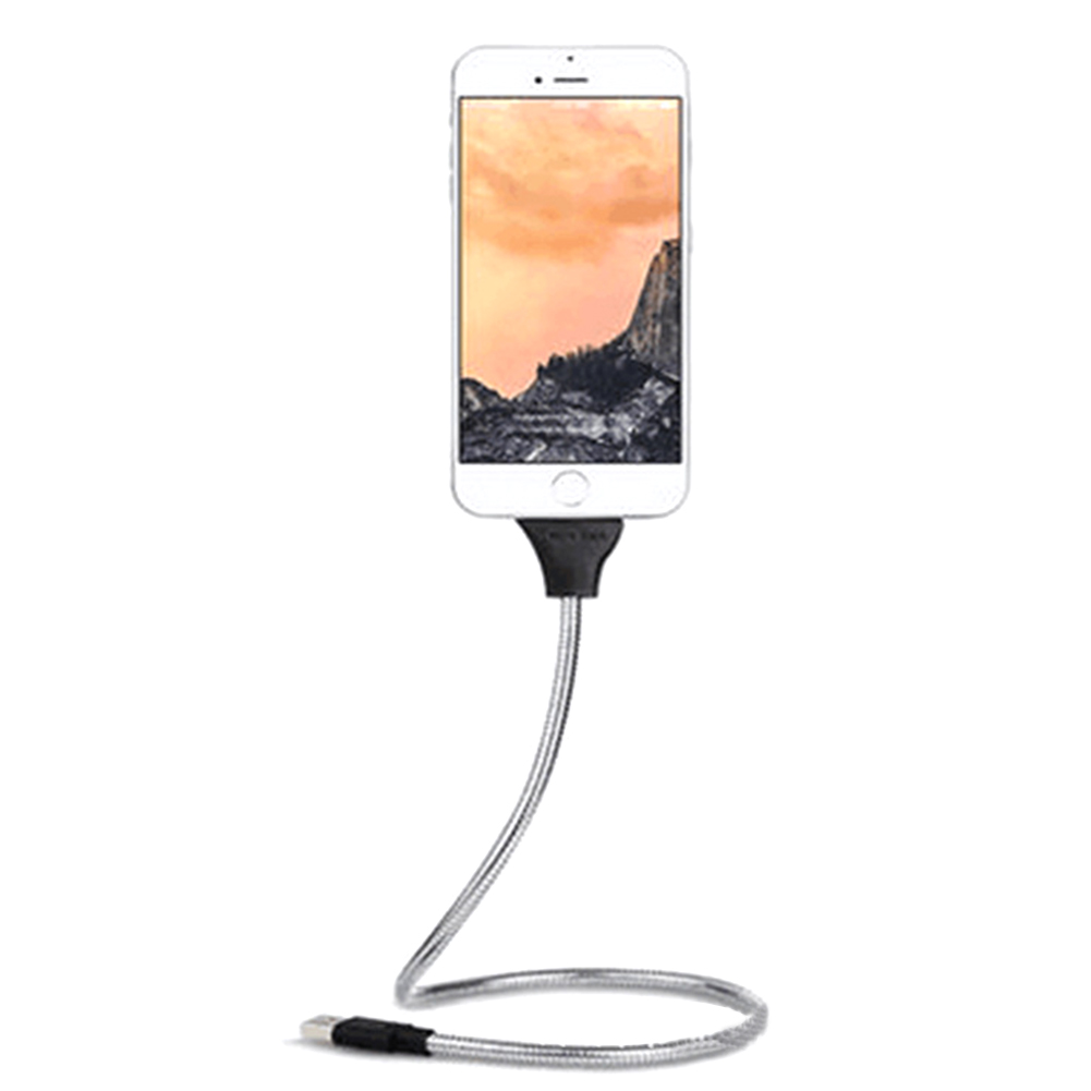 USB Charging Data Cable 2 in 1 Lazy Bracket Palms Shape Charger Cord Stand Dock Flexible for Lightning Micro USB Type C Port in Mobile Phone Cables from Cellphones Telecommunications