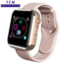 Reloj inteligente deportivo para hombre y mujer, reloj inteligente con Dial y número, podómetro con cámara, compatible con tarjeta SIM, TF, llamadas y Bluetooth para Android