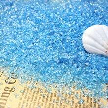 Sable en verre d'aquarium de couleur 500g, sable de fond d'aquarium, pierre micro paysagère, décoration de fond